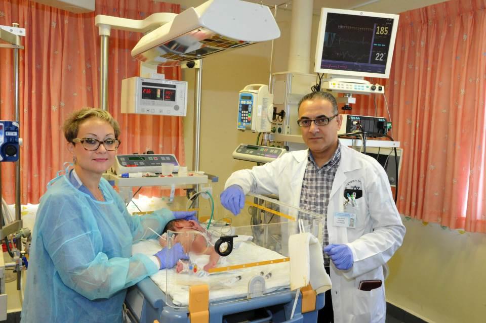 ניתוח נדיר בוצע בתינוק סורי
