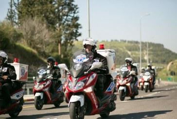 תרגיל אופנוענים באזור ירושלים